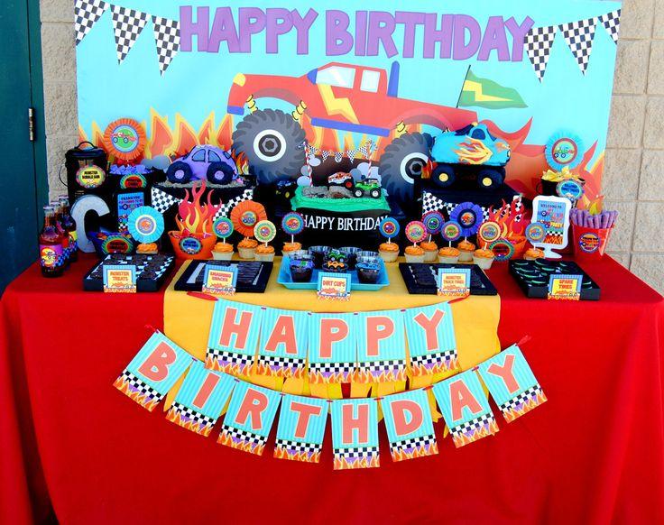 MONSTER Truck- Monster Truck Party - Monster COMPLETE- Monster Truck  Birthday Party