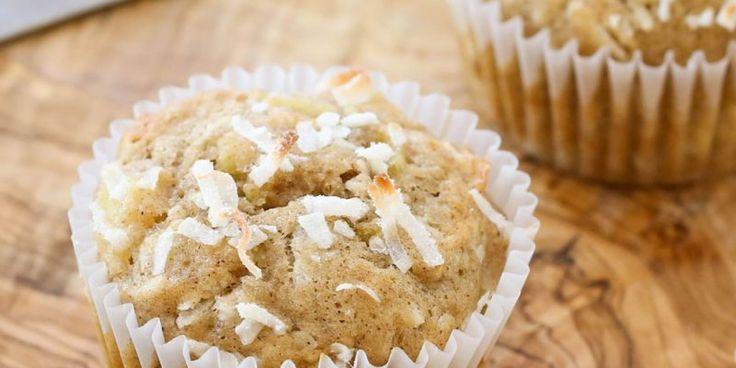 Os muffins havaianos são favorito do miúdo!  Obter a receita em barefeetinthekitchen.com