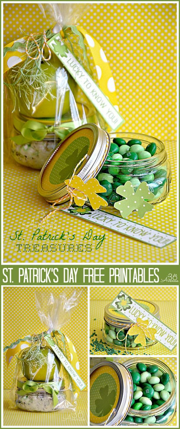 Awesome Free Printable and St. Patrick's Day gift idea by @the36thavenue