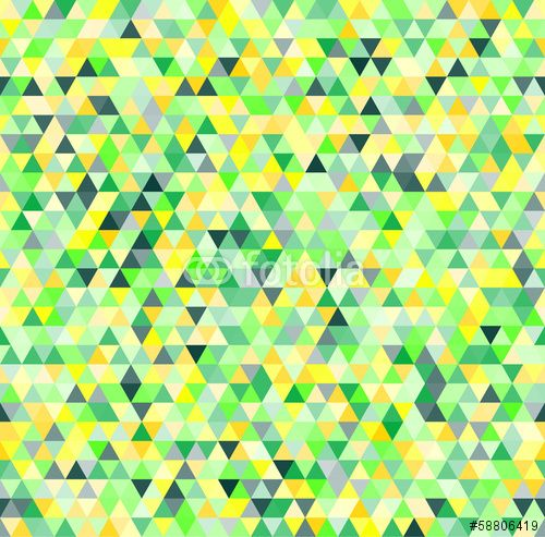 Wektor: Colorful triangles geometric seamless pattern