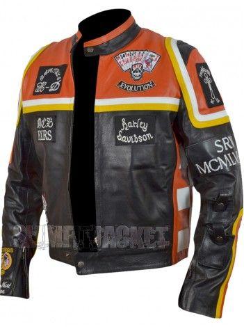 Harley Davidson Jacket - The Marlboro Man Leather jacket Buy / For sale Mickey rourke Motorcycle Leather jacket for men world wide & get free shipment USA. http://slimfitjacket.com/marlboro-man-harley-davidson-motorcycle-leather-jacket.html