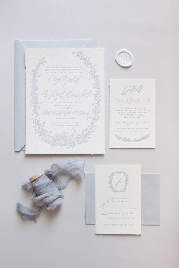 Wedding Invitations with Elegant Calligraphy - MODwedding