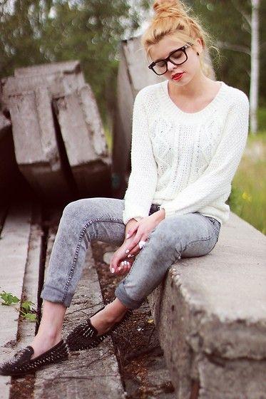 White braid sweater (by Nesairah Nesstyle) http://lookbook.nu/look/3775721-white-braid-sweater