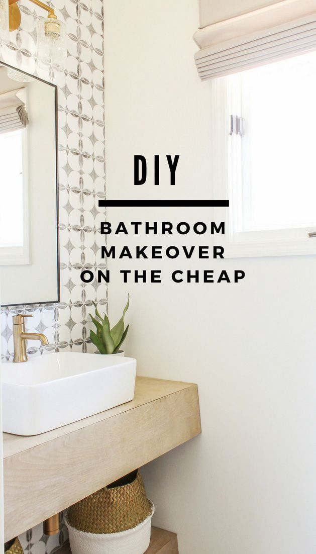 Diy Modern Farmhouse Bathroom Makeover On A Budget I Can T Believe How Dramatic This Transfor Modern Farmhouse Diy Modern Farmhouse Bathroom Bathroom Makeover