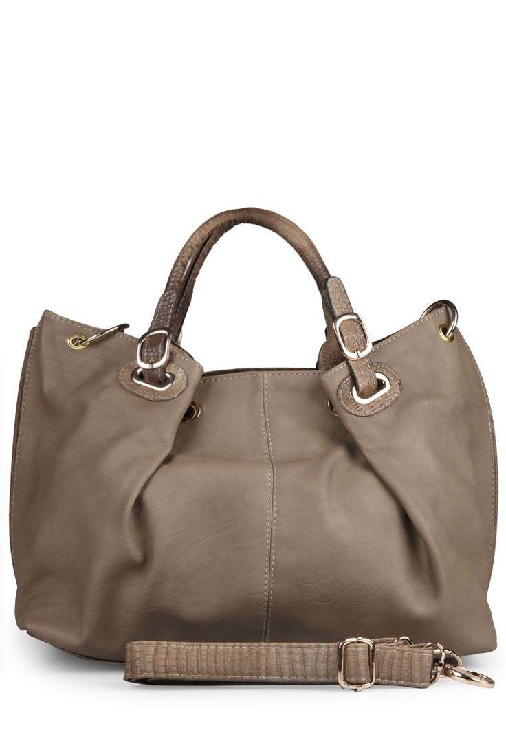Tanya leather handbag grey