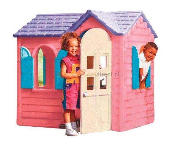 Little Tikes Country Cottage Speelhuis Roze  Leuk Little Tikes speelhuis in roze kleurstelling. Met 4 ramen luiken en een deur die open en dicht kan. Inclusief gootsteen fornuis en draadloze telefoon. Afmetingen: 127x114x131 cm. Geschikt voor kinderen van 2 tot 6 jaar.  EUR 311.99  Meer informatie