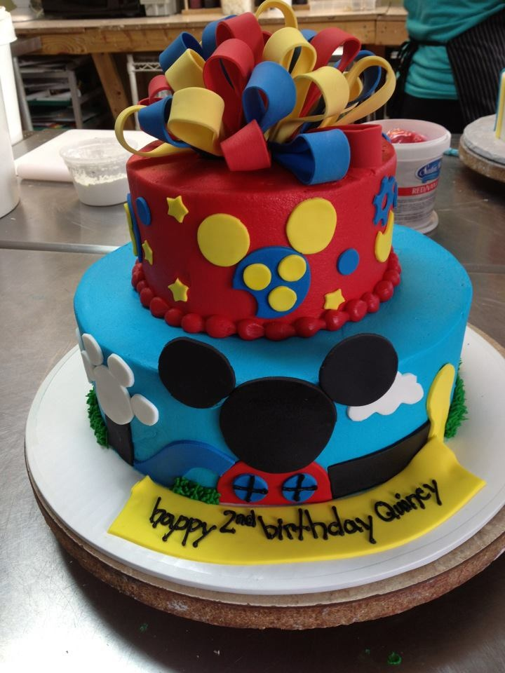 Mickey Mouse 2 Tiered Cake Baby Things Pinterest To