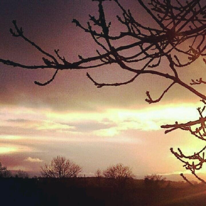 Christmas Eve Sunset, Omagh, Northern Ireland