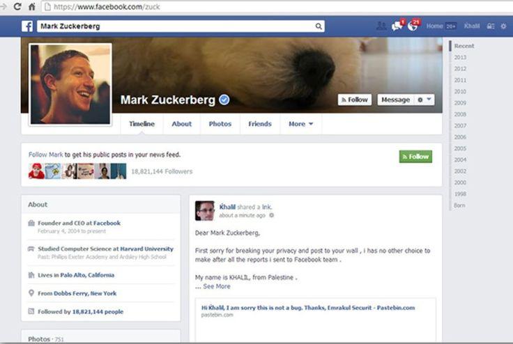 Hacker invade página de Zuckerberg http://newsevoce.com.br/?p=5838