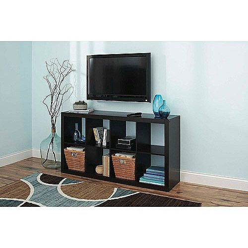 Bookcase TV Stand Better Homes And Gardens 8 Cube Organizer Storage Black  Shelf