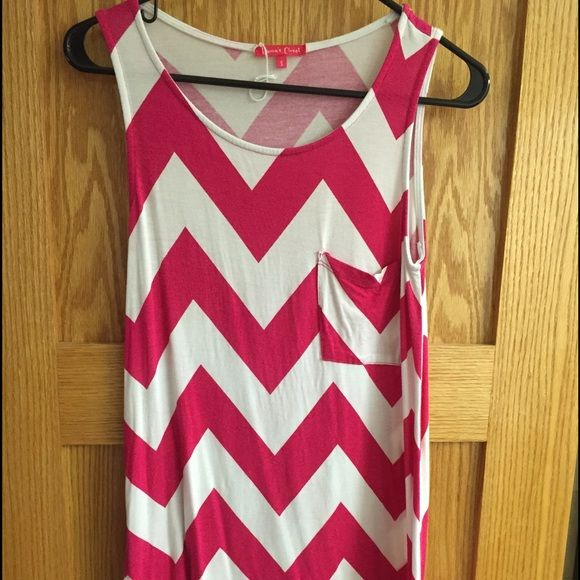 White and pink tang top. Get ready for summer! Soft and flows great! Emmas closet  Tops Tank Tops