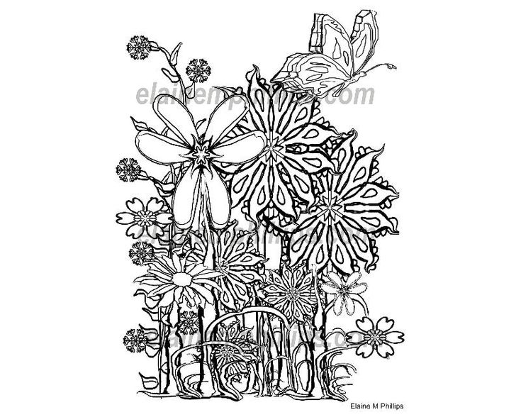 adult Coloring Book Pages Flowers Printable Digital Coloring Book or adult Coloring Page! Unique Gift, Wedding Favor, Christmas, Birthday, by ColouringPagestogo on Etsy