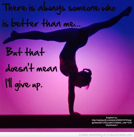 Inspiring gymnastics quote