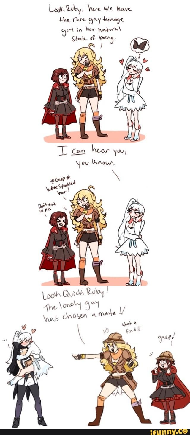rwby, ruby, weiss, blake, yang << I don't ship monochrome but this is definitely fitting to the characters