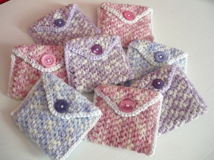 Easy Coin Purse · How To Stitch A Knit Or Crochet Pouch · Crochet ...                                                                                                                                                      More
