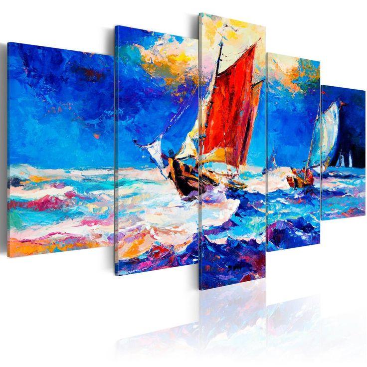 Paesaggi marini nel soggiorno ti permetteranno di conservare più a lungo un bel ricordo delle vacanze #mare #quadri  #paesaggi #marino #barca  #barche #vacanze #estate