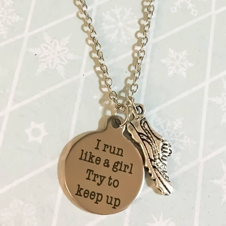 Running Jewelry, Running Necklace, Barbell Charm, Fitness Jewelry, Gift Ideas, Marathon Necklace, Running Jewelry, Gift for Her, Runner Gift by MissFitBoutiqueCA on Etsy https://www.etsy.com/ca/listing/574535305/running-jewelry-running-necklace-barbell