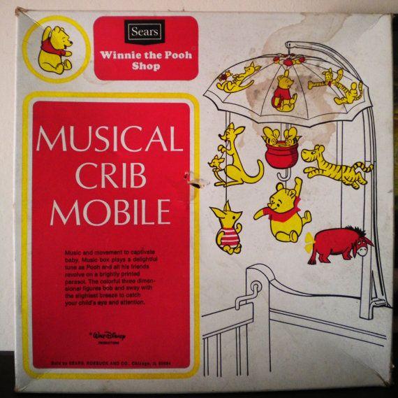 1977 sears winnie the pooh shop musical hanging mobile. Black Bedroom Furniture Sets. Home Design Ideas