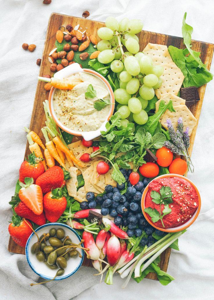 Hummus Crudité Platter.