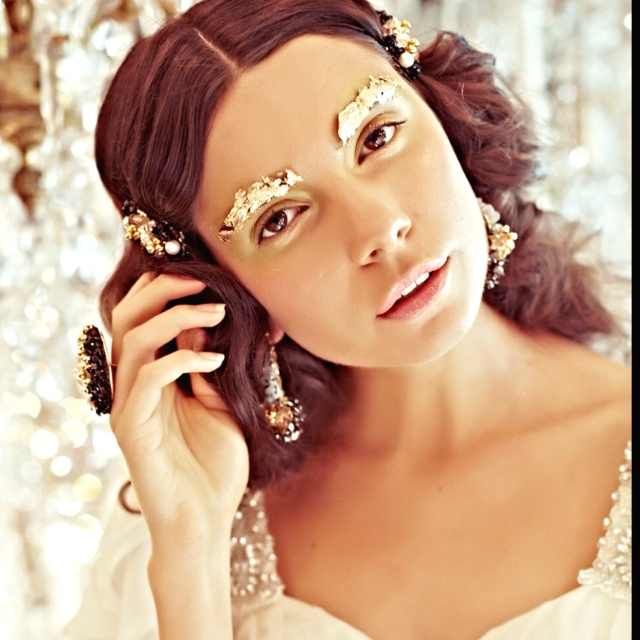 Another enchanting look from 'Essence of an enchantress' couture jewellery & gown collection S/S 2012/13