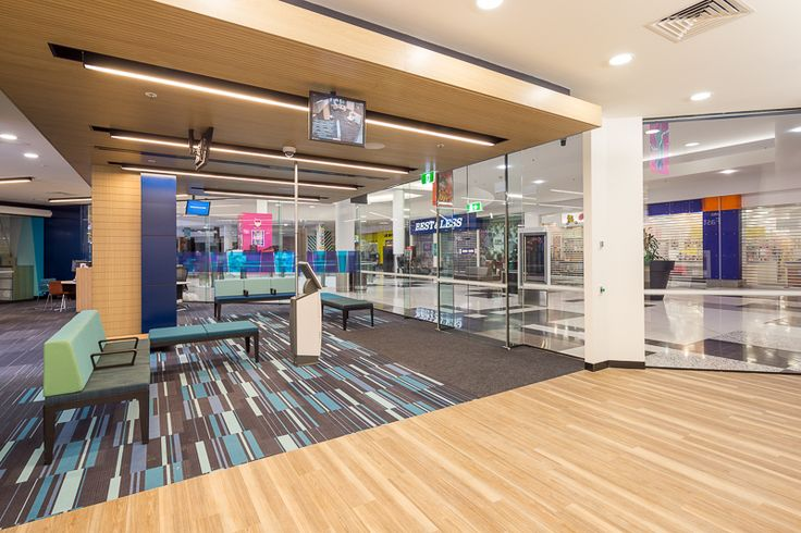 Anz Branch Fitout,  Geyer architects  R Line tas oak laminte finish  by Keystone Acoustic Ceiling