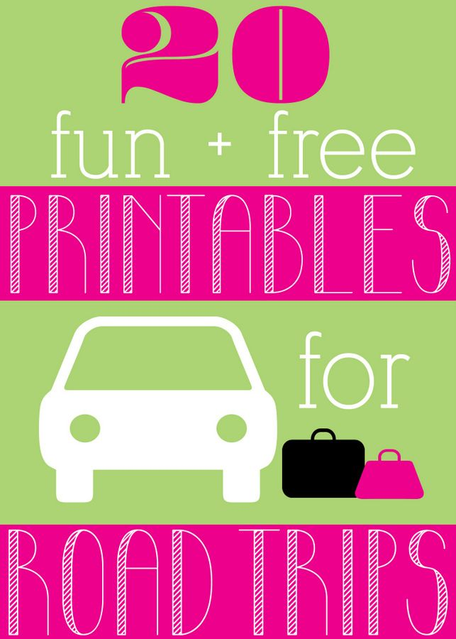 20 FREE printables for road trips. This is a great list! #HPFamilyTime: Free Roads, 20 Printable, Road Trips, Trips Printable, 20 Free, Roads Trips, 20 Fun, Travel Printable, Free Printables