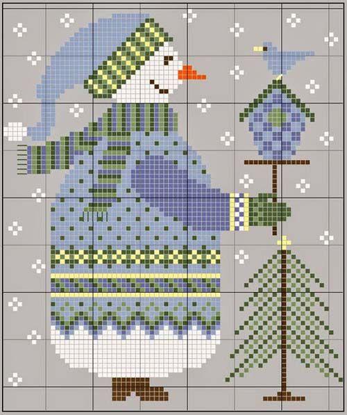 Graficos de figuras navideñas para bordar en punto de cruz01