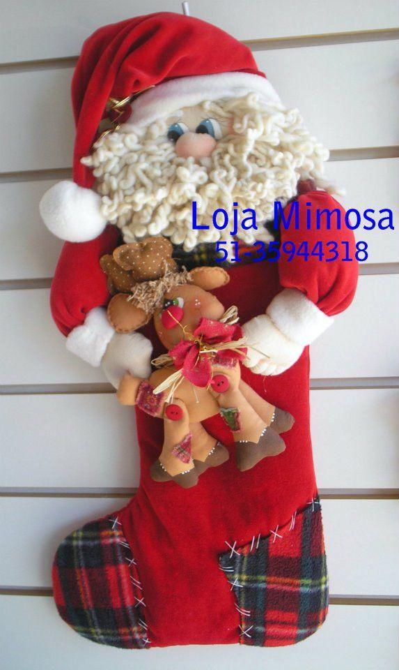 Projeto da Bota de Papai Noel e Rena