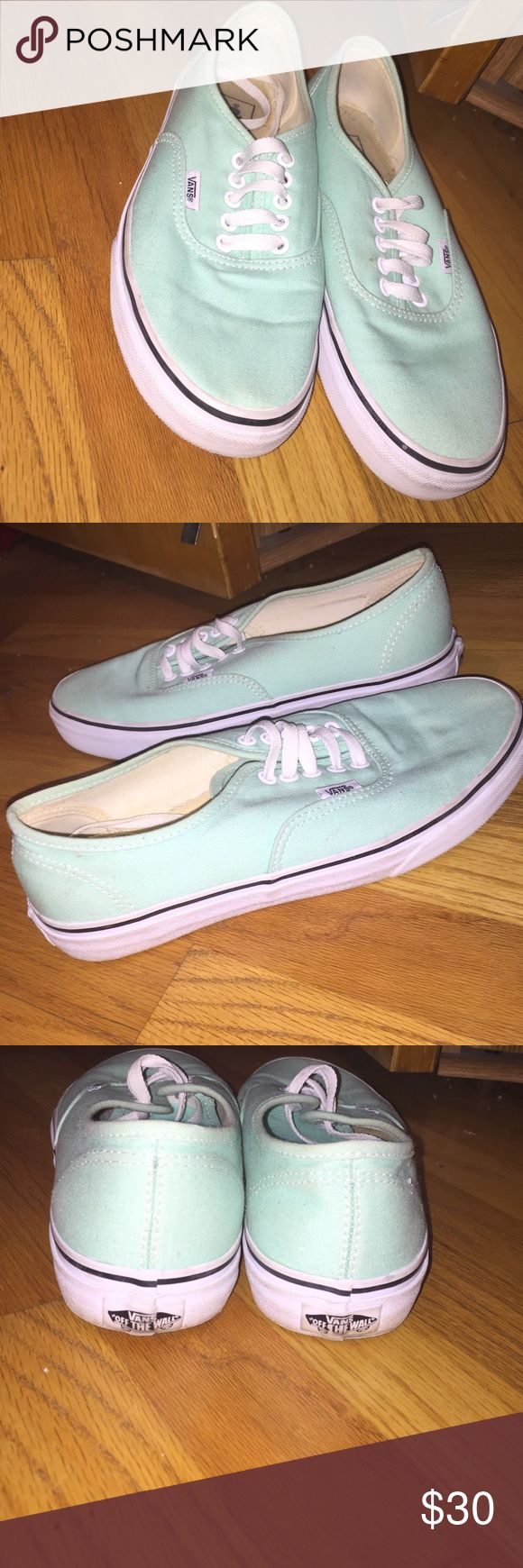teal vans teal vans, worn a couple of times but not often. men's 8, women's 9.5.. price negotiable! Shoes