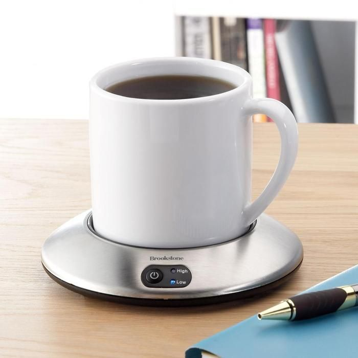 Enjoy warm coffee or tea, from first sip to last. I like that it is CORDLESS...love it b/c I'm such a pokey coffee drinker!