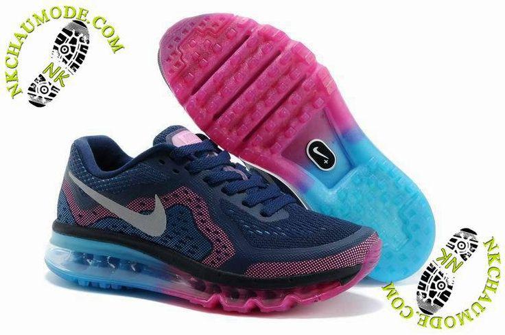chaussure nike air max one 2014 Femme Pourpre/Bleu/Rose