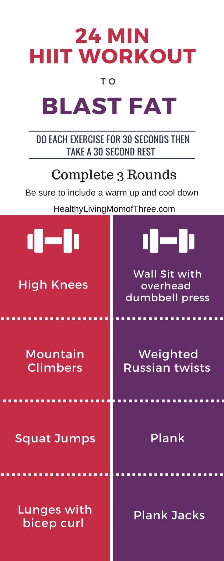 Hiit Cardio Also Known As High Intensity Interval Training Is Amazing For Burning Fat And Weight Loss Here Is A Fat Blasting 24 Min Hiit Workout