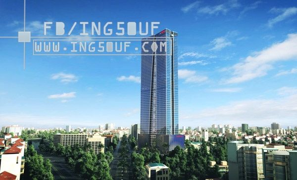مخططات معمارية برج Lotte Tower من 65 طابق اوتوكاد Dwg مركز لوت هانوي الفيتنام تم بناء مبنى Lotte من 65 طابق ا مع 05 طابق سفلي Skyscraper Building Tower