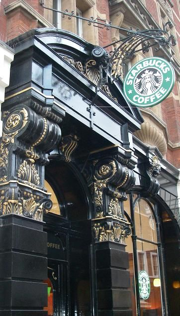 A Starbucks in London. If you're going to do Starbucks...do it British style. One latte shaken not stirred.