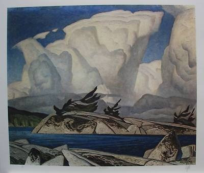 A.J.CASSON group of seven SIGNED Thunderheads