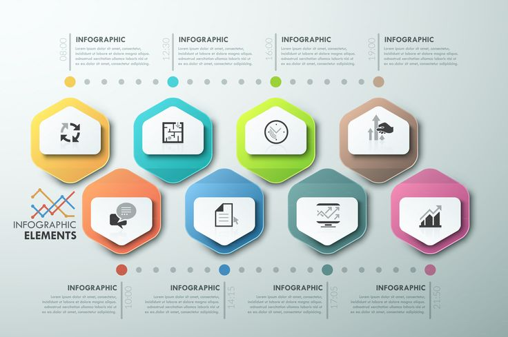 Modern Infographic Process Template by AndrewKras on @creativemarket