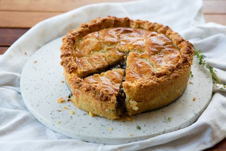 Mushroom, Verjuice and Thyme Pie with Sour Cream Gruyere Pastry - Maggie Beer