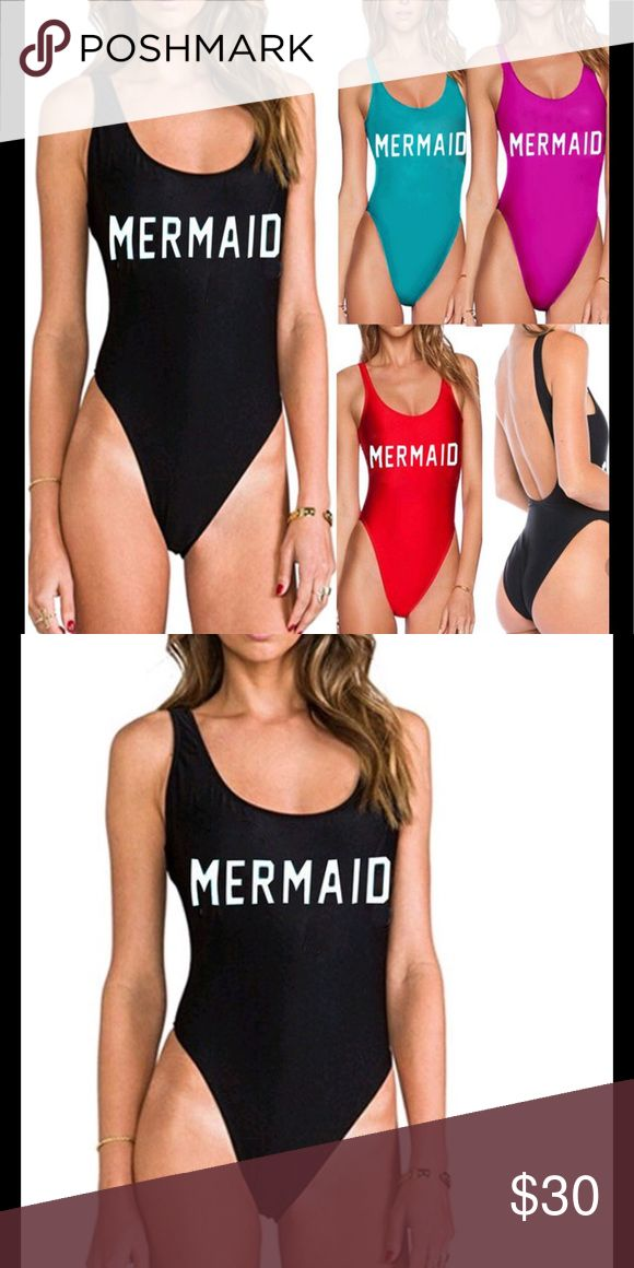 Black Mermaid Tankini ✨Material: Cotton & Spandex ✨Fits true to size ✨Please allow 14days for delivery ✨Brand used for exposure Missguided Swim One Pieces