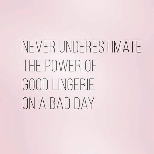 Mai sottovalutare il potere di un bel completino di lingerie quando hai una giornata storta ;-) Buona domenica a tutte!