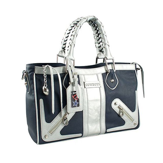 NFL Dallas Cowboys Suite Team Moto Satchel Purse available at shop.dallascowboys.com.