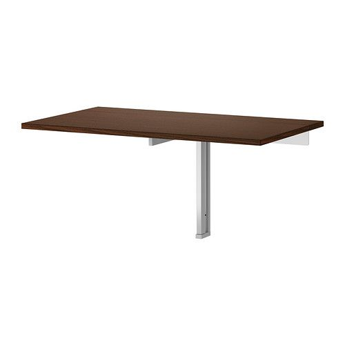 Bjursta wall mounted drop leaf table brown - Wall mounted kitchen table ikea ...