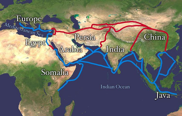 Silk Road routes (extended) from Wikipedia