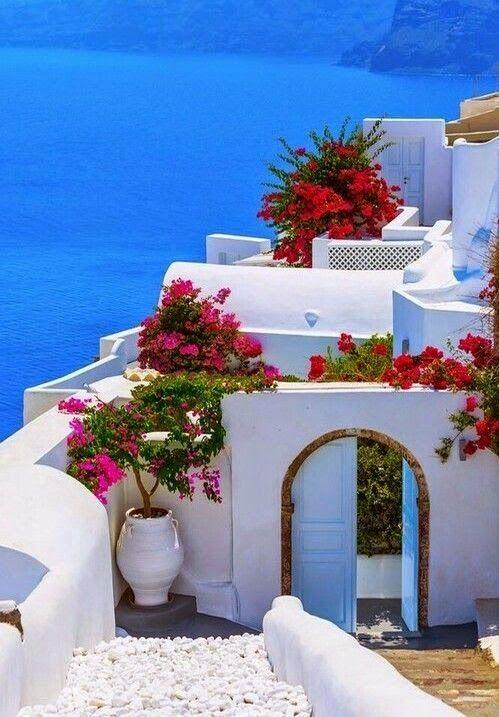 Santorini,Oia, Entrance to Canaves Oia Hotel, Greece  #Travel #Exotic #ShermanFinancialGroup