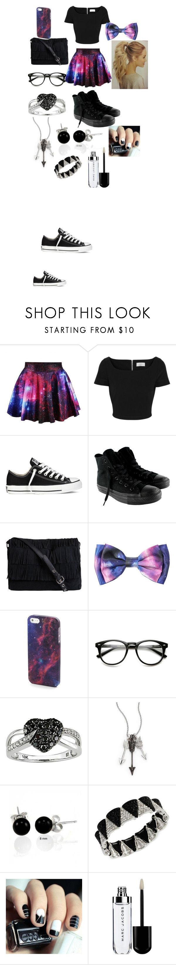 """""""party/basketball game outfit"""" by beyouncestorey ❤ liked on Polyvore featuring Preen, Converse, Pieces, Ice, Jade Jagger, Bling Jewelry and Steve Madden"""