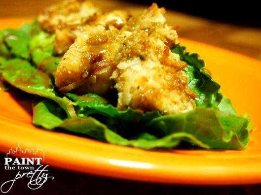 Baked Coconut Chicken with Ginger Soy Dressing over Romaine « Paint ...