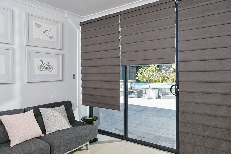 Modern Roman Shades are the newest innovation in Roman Shades with no exposed rear cords for enhanced child safety. Available in four unique styles with a choice of child safe operating systems and a broad range of fabrics in room darkening and translucent opacities. #luxaflexaus #modernromanshades #romanshades #windowfashions #windowcovering #sale #midyearsale