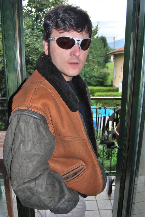 on sale now! https://www.etsy.com/listing/197021078/leather-coat-jacket-dibi-man-original?ref=pr_shop