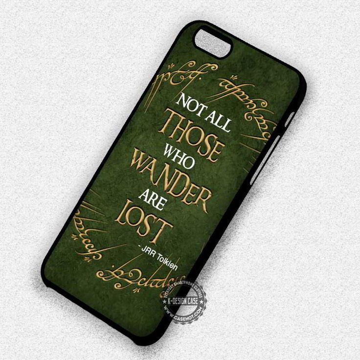 Wanderlus JRR Tolkien Quote Lord of The Ring - iPhone 7 6 5 SE Cases & Covers #movie #thelordoftherings #quote#iphonecase #phonecase #phonecover #iphone7case #iphone7 #iphone6case #iphone6 #iphone5 #iphone5case #iphone4 #iphone4case