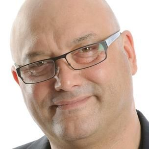 Gregg Wallace. Banana, chocolate and marshmallow kebabs.