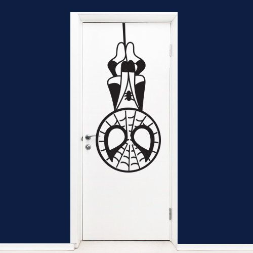 The amazing Spiderman Wall Decal perfectly designed to decorate your kids bedroom door or walls.